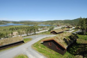 The view over the huts